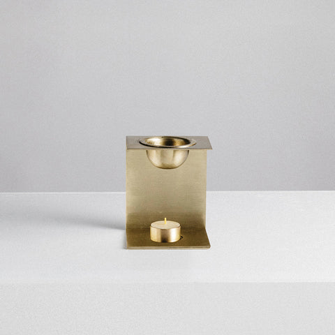 Addition Studio - Brass Essential Oil Burner - Oil Burner  SIMPLE FORM.