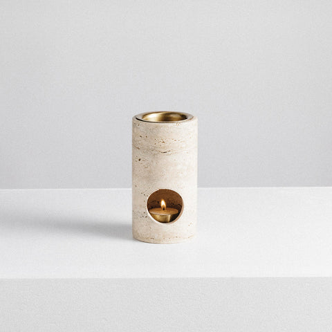 Addition Studio - Synergy Oil Burner Travertine - Oil Burner  SIMPLE FORM.