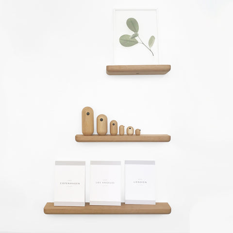 SIMPLE FORM.-JB American Oak Floating Shelf Wall Shelf