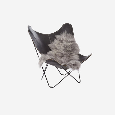 SIMPLE FORM.-Natures Collection Icelandic Sheepskin Grey Brisa Sheepskin