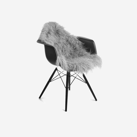 SIMPLE FORM.-Natures Collection Tibetan Sheepskin Light Grey Sheepskin