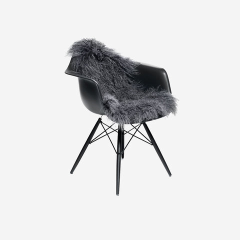 SIMPLE FORM.-Natures Collection Tibetan Sheepskin Steel Grey Sheepskin