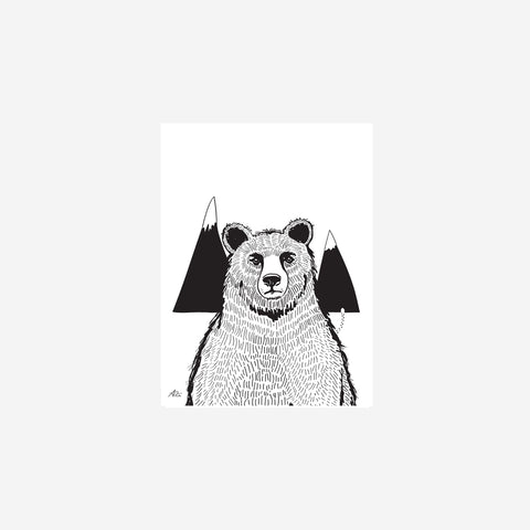 SIMPLE FORM. - Sarah Cocolapine - A Bear Print - Children's Print
