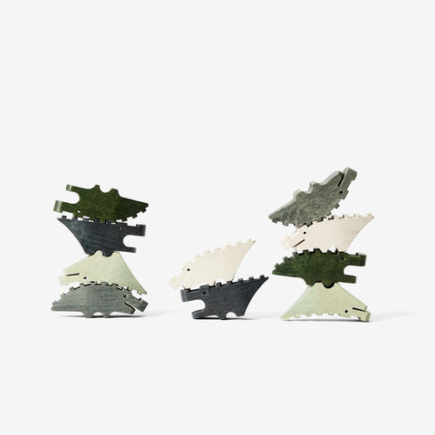 Areaware - Croc Pile Puzzle Mini Green by Areaware - Puzzles  SIMPLE FORM.