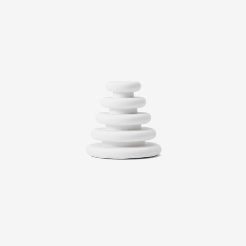 SIMPLE FORM. - Areaware - Moon Chalk Satellite Stack White by Areaware - Play