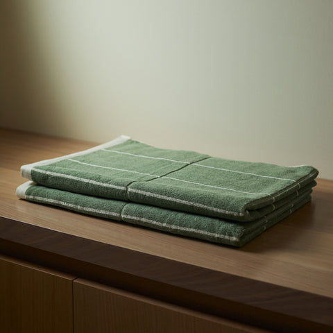 Baina - Bethell Bath Towel Sage Chalk by Baina - Towel  SIMPLE FORM.