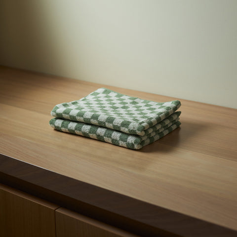 Baina - Josephine Hand Towel Sage Chalk by Baina - Towel  SIMPLE FORM.