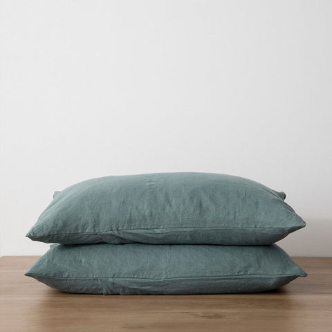 Cultiver - Cultiver Standard Pillowcase Set Bluestone - Bedding  SIMPLE FORM.