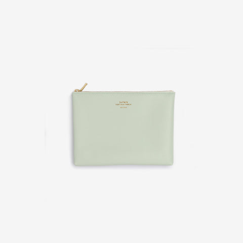 Delfonics - Quitterie Mint Green Medium Case - Purse  SIMPLE FORM.