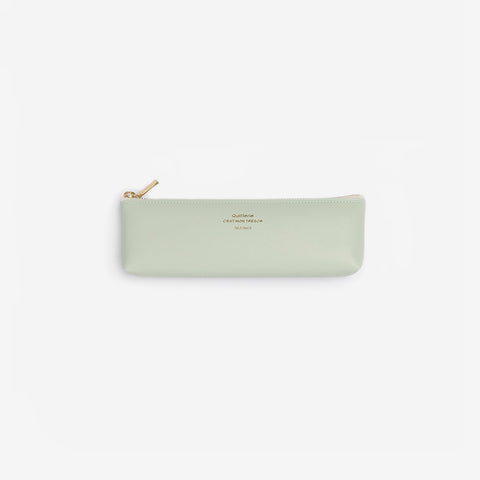 Delfonics - Quitterie Mint Green Pencil Case - Pencilcase  SIMPLE FORM.
