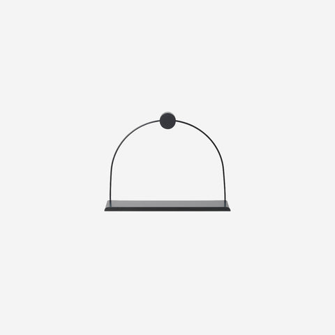 Ferm Living - Ferm Living Bathroom Shelf Black - Shelf  SIMPLE FORM.