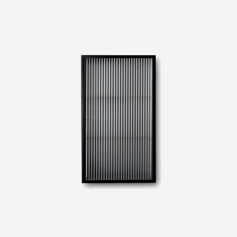 Ferm Living - Ferm Living Haze Wall Cabinet Reeded Glass Black - Wall Cabinet  SIMPLE FORM.