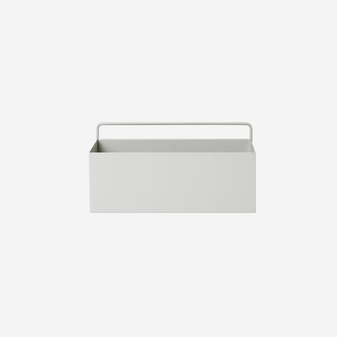 Ferm Living - Ferm Living Wall Box Rectangle Light Grey - Storage Box  SIMPLE FORM.