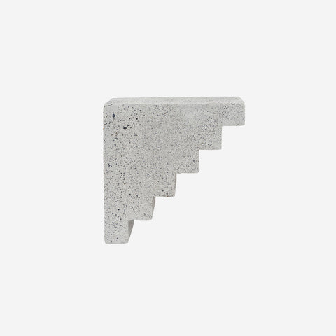 House Doctor - Concrete Sculptural Staircase Bookend by House Doctor - Decor  SIMPLE FORM.