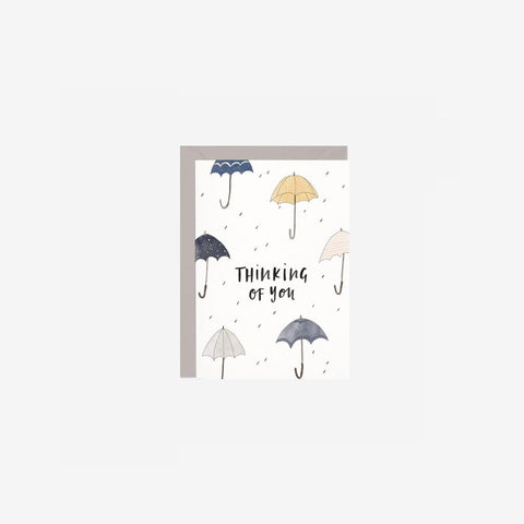 In The Daylight - Card Thinking of You Umbrellas - Greeting Card  SIMPLE FORM.