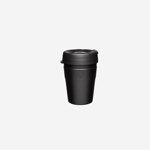 KeepCup - Thermal Black Keepcup 12oz - Coffee Cup  SIMPLE FORM.