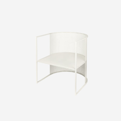 SIMPLE FORM. - Kristina Dam - Bauhaus Lounge Chair Off White - Sculptures