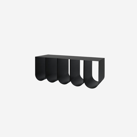 SIMPLE FORM. - Kristina Dam - Curved Bench Black - Bench