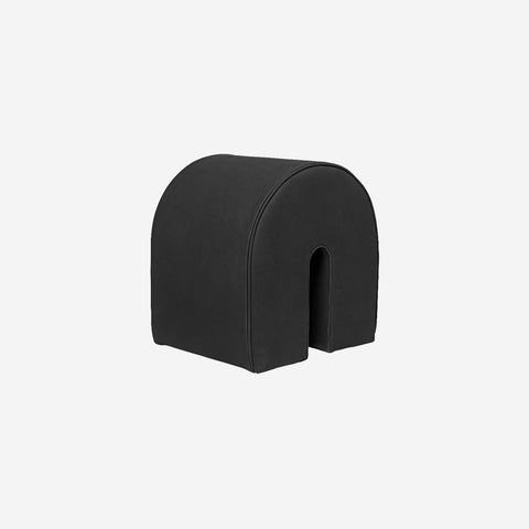 SIMPLE FORM. - Kristina Dam - Curved Pouf Black Leather - Pouf