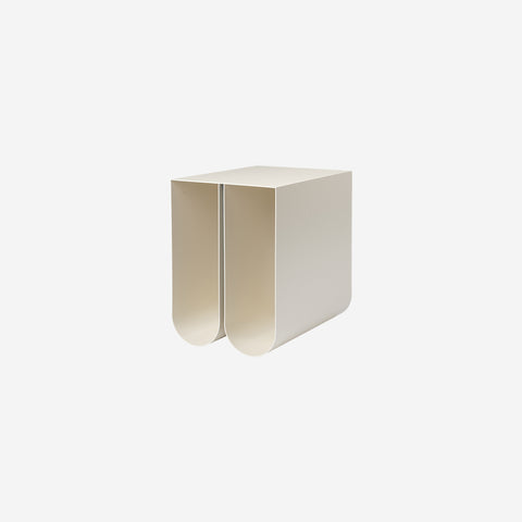 Kristina Dam - Curved Side Table Off White - Table  SIMPLE FORM.