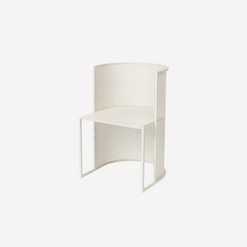 Kristina Dam - Kristina Dam Bauhaus Dining Chair Off White - Sculptures  SIMPLE FORM.