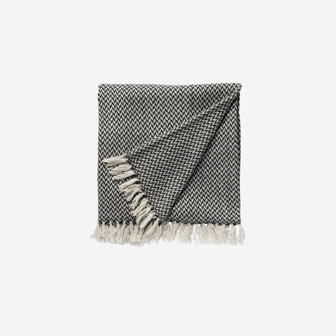 LM Home - Copenhagen Cashmere Charcoal - Throw  SIMPLE FORM.
