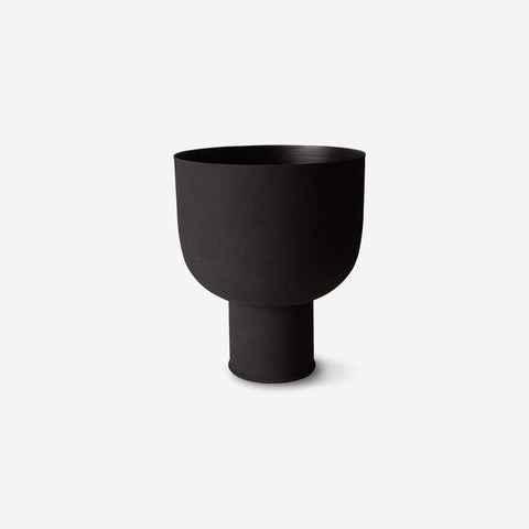 SIMPLE FORM. - LM Home - Mona Curve Planter Large Black - Planter