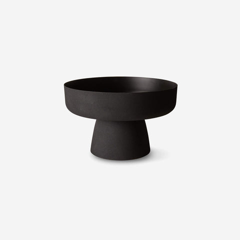 SIMPLE FORM. - LM Home - Mona Pedestal Bowl Black - Bowl