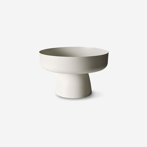 LM Home - Mona Pedestal Bowl Chalk - Bowl  SIMPLE FORM.
