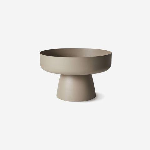 LM Home - Mona Pedestal Bowl Latte - Bowl  SIMPLE FORM.