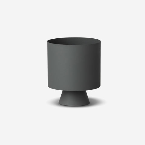 SIMPLE FORM. - LM Home - Mona Planter Large Grey - Planter