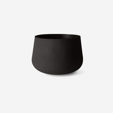 LM Home - Mona Pot Large Black - Planter  SIMPLE FORM.