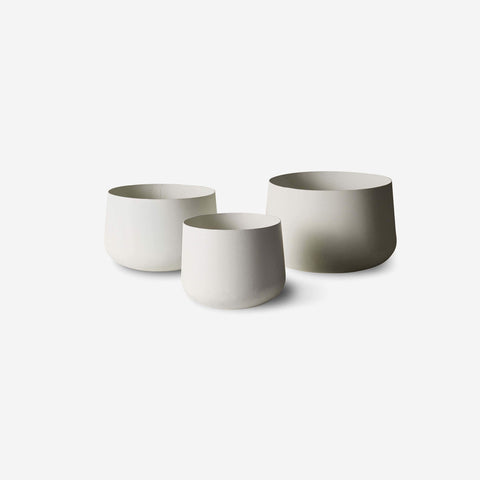 LM Home - Mona Trio of Pots Chalk - Planters  SIMPLE FORM.
