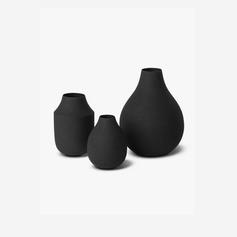 SIMPLE FORM. - LM Home - Mona Trio of Vases Black - Vase