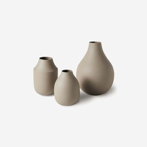 LM Home - LM Home Mona Trio of Vases Latte - Vase  SIMPLE FORM.