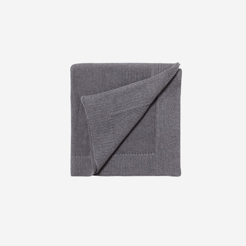 LM Home - LM Home Nico Blanket Smoke Grey - Throw  SIMPLE FORM.