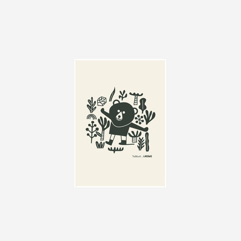 SIMPLE FORM. - Laikonik - Nordic Bear Print - Art Prints