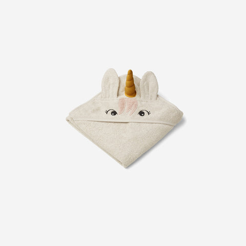 Liewood - Liewood Albert Hooded Towel Unicorn Sandy - Children's Towel  SIMPLE FORM.