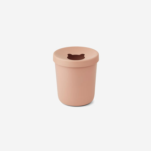 Liewood - Liewood Evelina Trash Bin Coral Blush - Children's Bin  SIMPLE FORM.