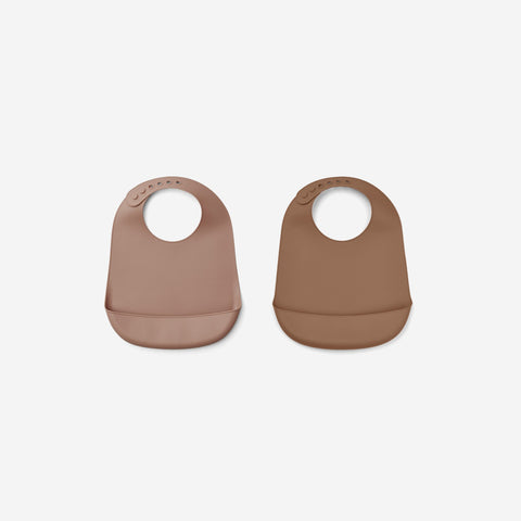 Liewood - Liewood Tilda Silicone Bibs Dark Rose Terracotta - Children's Bib  SIMPLE FORM.