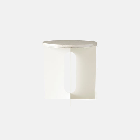 Menu - Androgyne Side Table Ivory - Side Table  SIMPLE FORM.
