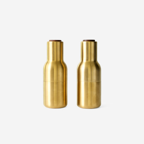 SIMPLE FORM. - Menu - Bottle Grinders Brushed Brass - Salt & Pepper Shakers