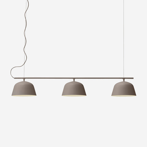 SIMPLE FORM. - Muuto - Ambit Rail Pendant Lamp Taupe by Muuto - Pendant