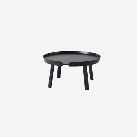 SIMPLE FORM. - Muuto - Around Coffee Table Large Black by Muuto - Table