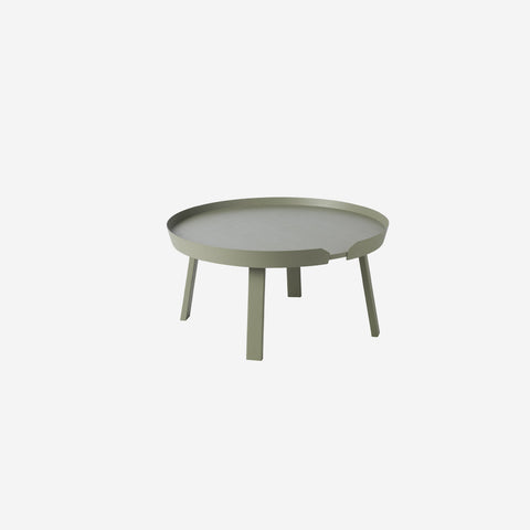 SIMPLE FORM. - Muuto - Around Coffee Table Large Dusty Green by Muuto - Table
