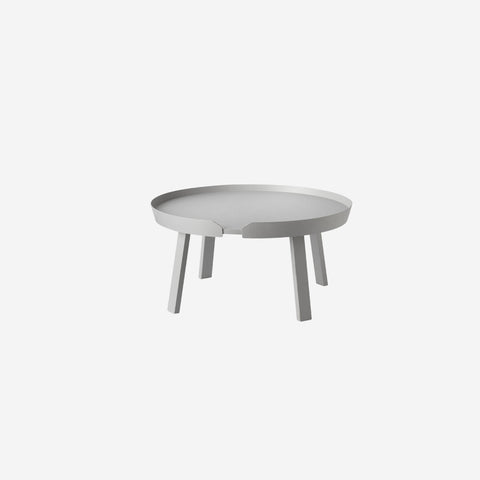 SIMPLE FORM. - Muuto - Around Coffee Table Large Grey by Muuto - Table