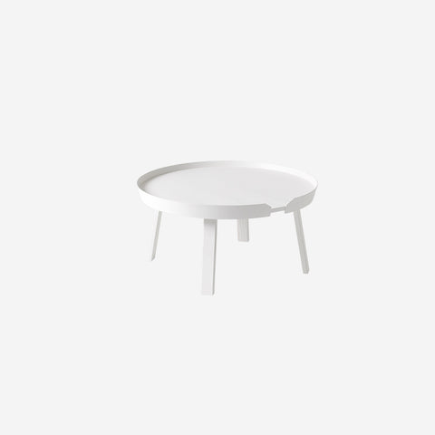 SIMPLE FORM. - Muuto - Around Coffee Table Large White By Muuto - Table