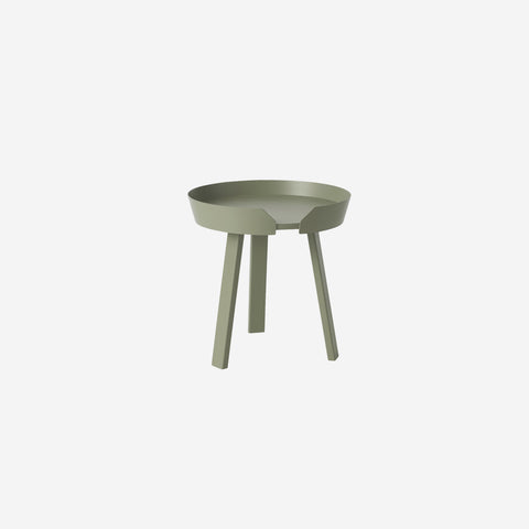 SIMPLE FORM. - Muuto - Around Coffee Table Small Dusty Green By Muuto - Table