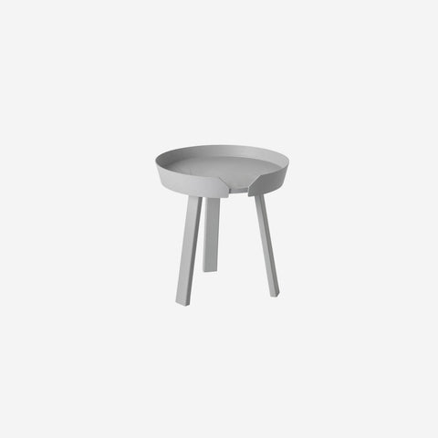 SIMPLE FORM. - Muuto - Around Coffee Table Small Grey by Muuto - Table