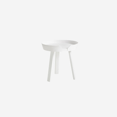 SIMPLE FORM. - Muuto - Around Coffee Table Small White by Muuto - Side Table